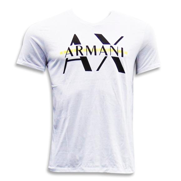 083ff3c9 A/X Armani Exchange Shirts   Armani Exchange Mens White V Neck ...